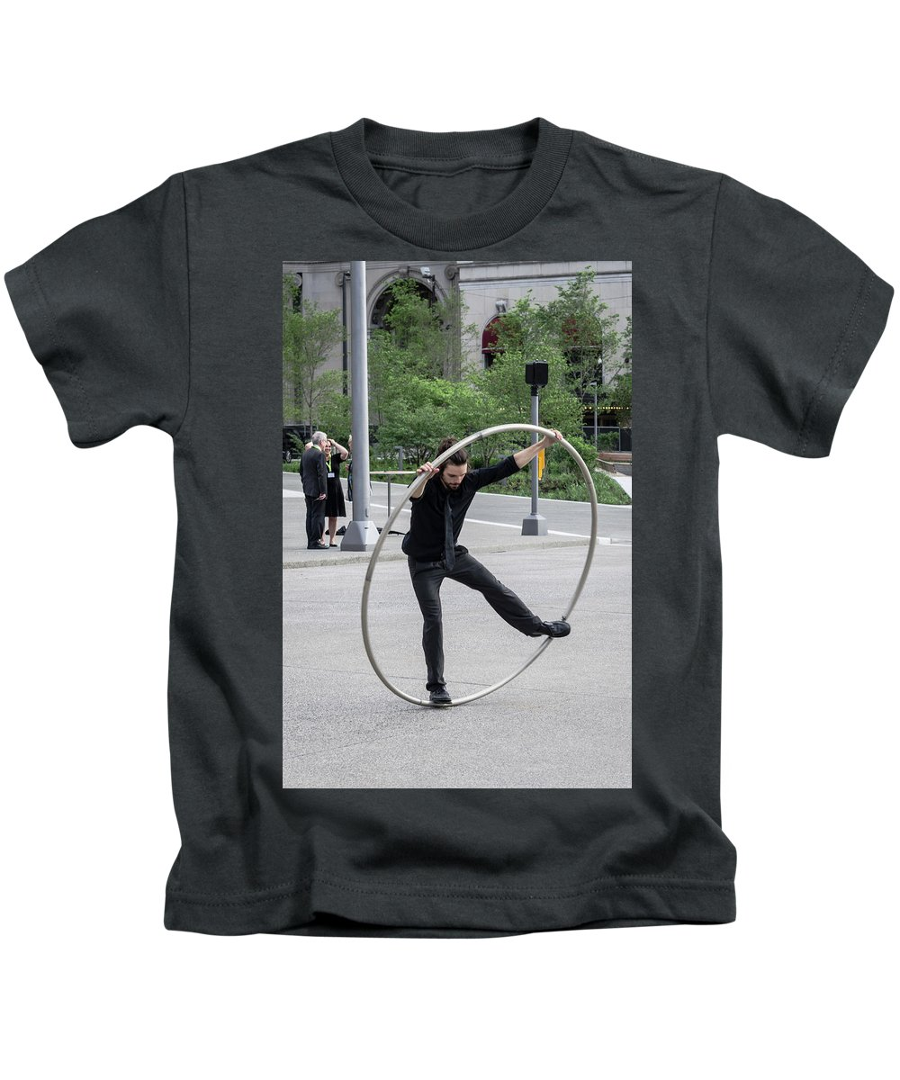 Cleveland Kids T-Shirt featuring the photograph Circles by Stewart Helberg