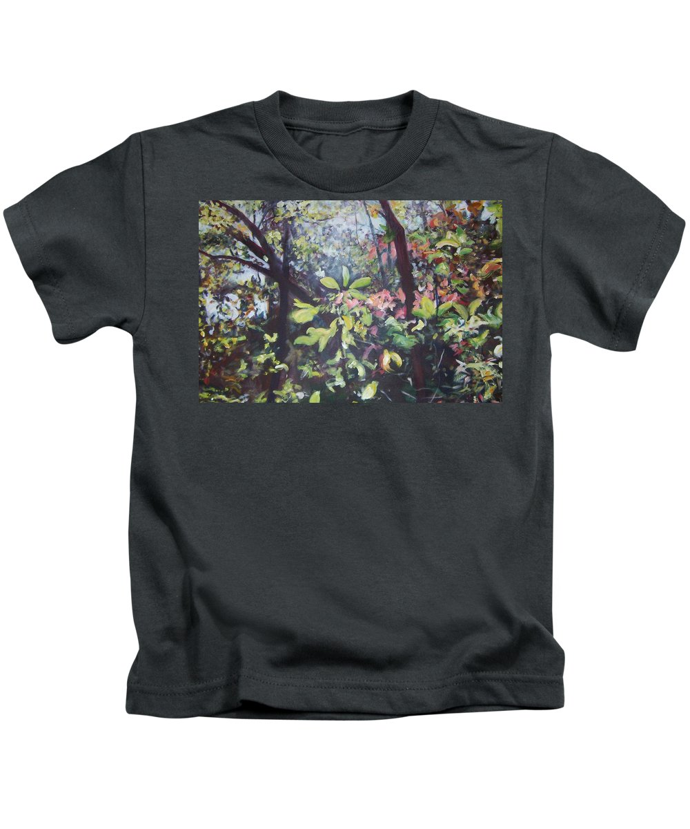 Landscape Kids T-Shirt featuring the painting Citrus Splash by Sheila Holland