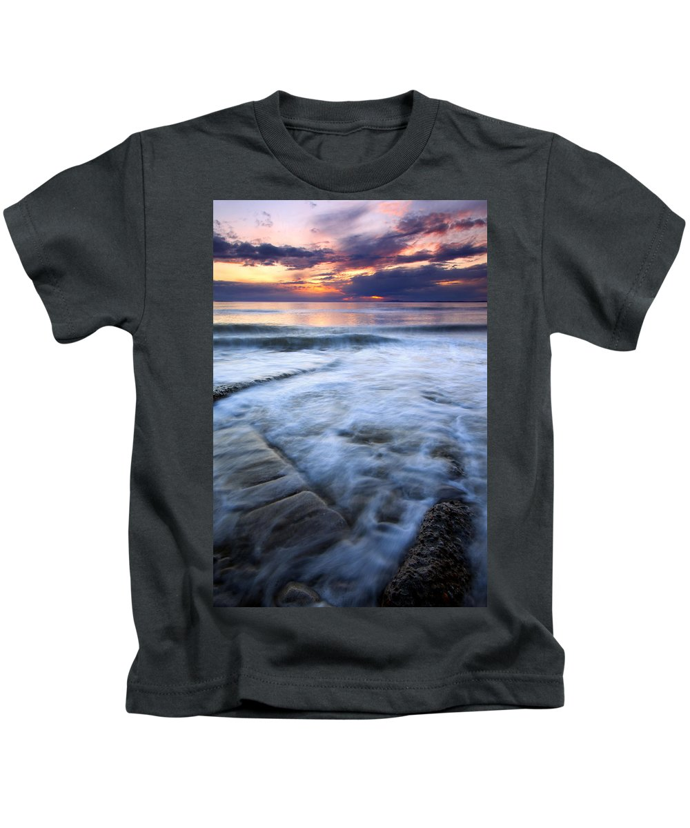 Tides Kids T-Shirt featuring the photograph Civilization Forgotten by Mike Dawson