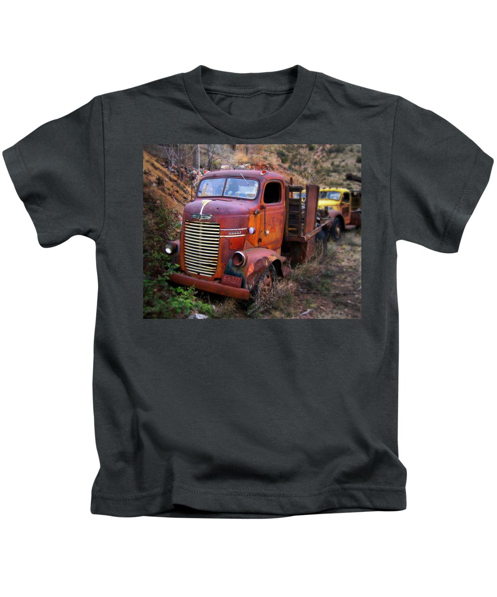 Car Kids T-Shirt featuring the photograph Classic Delivory by Perry Webster
