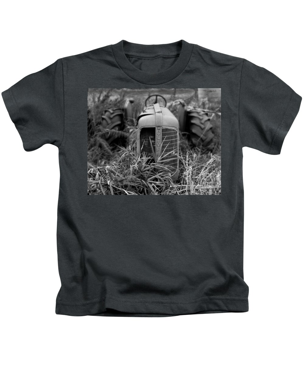 Tractor Kids T-Shirt featuring the photograph Classic Oliver by Perry Webster