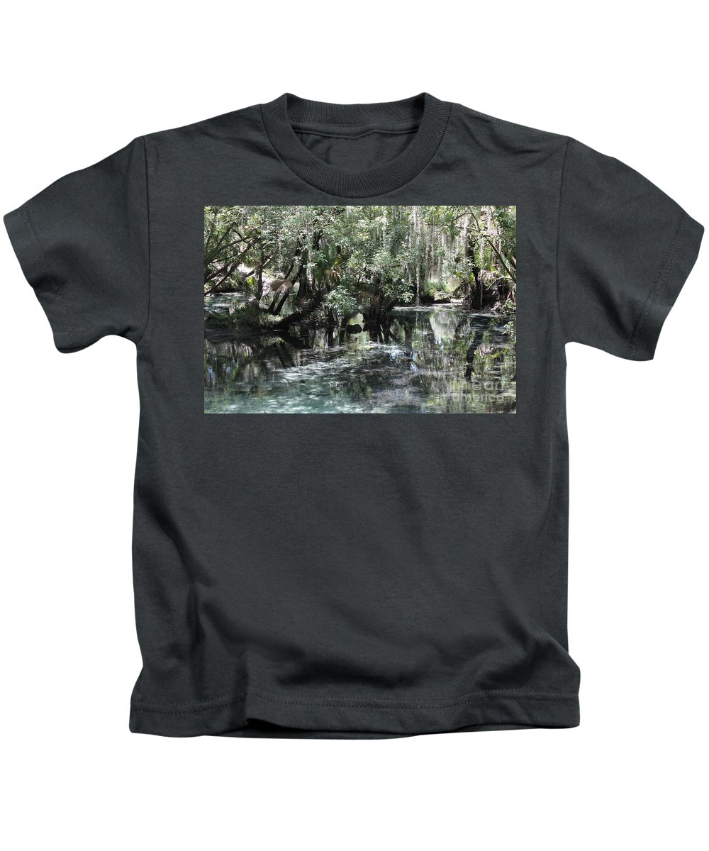 Florida Landscape Kids T-Shirt featuring the photograph Clear Lithia Springs by Carol Groenen
