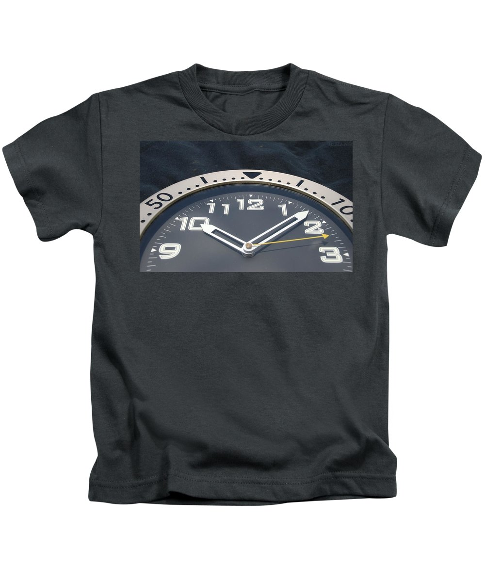 Clock Kids T-Shirt featuring the photograph Clock Face by Rob Hans