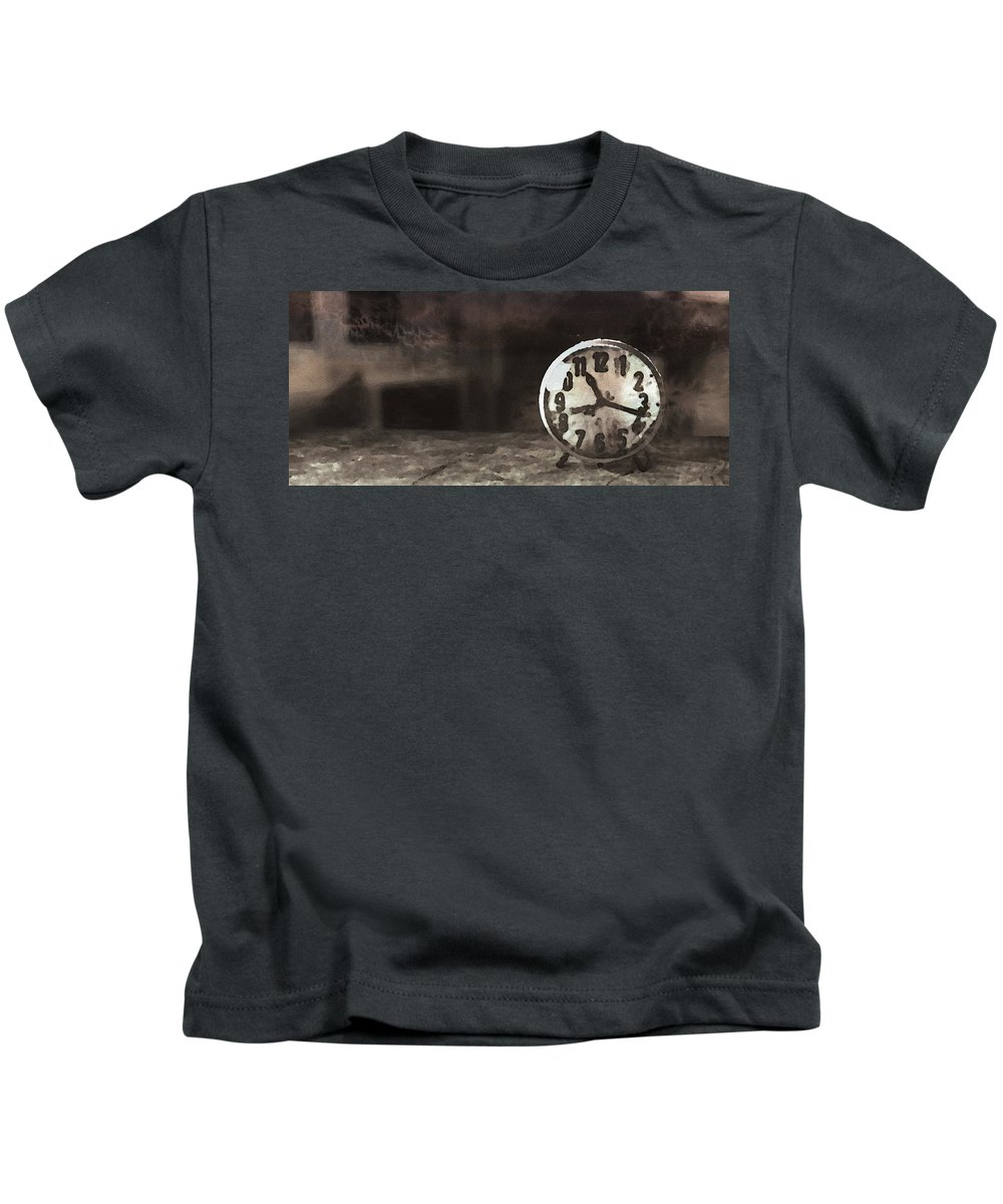Old Kids T-Shirt featuring the painting Clock - Id 16218-130649-1306 by S Lurk