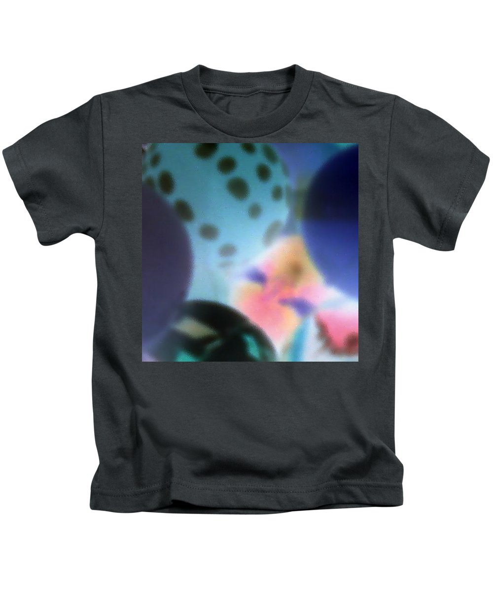Balls Kids T-Shirt featuring the photograph Close Up Of Rubber Bounce Balls by Cindy New