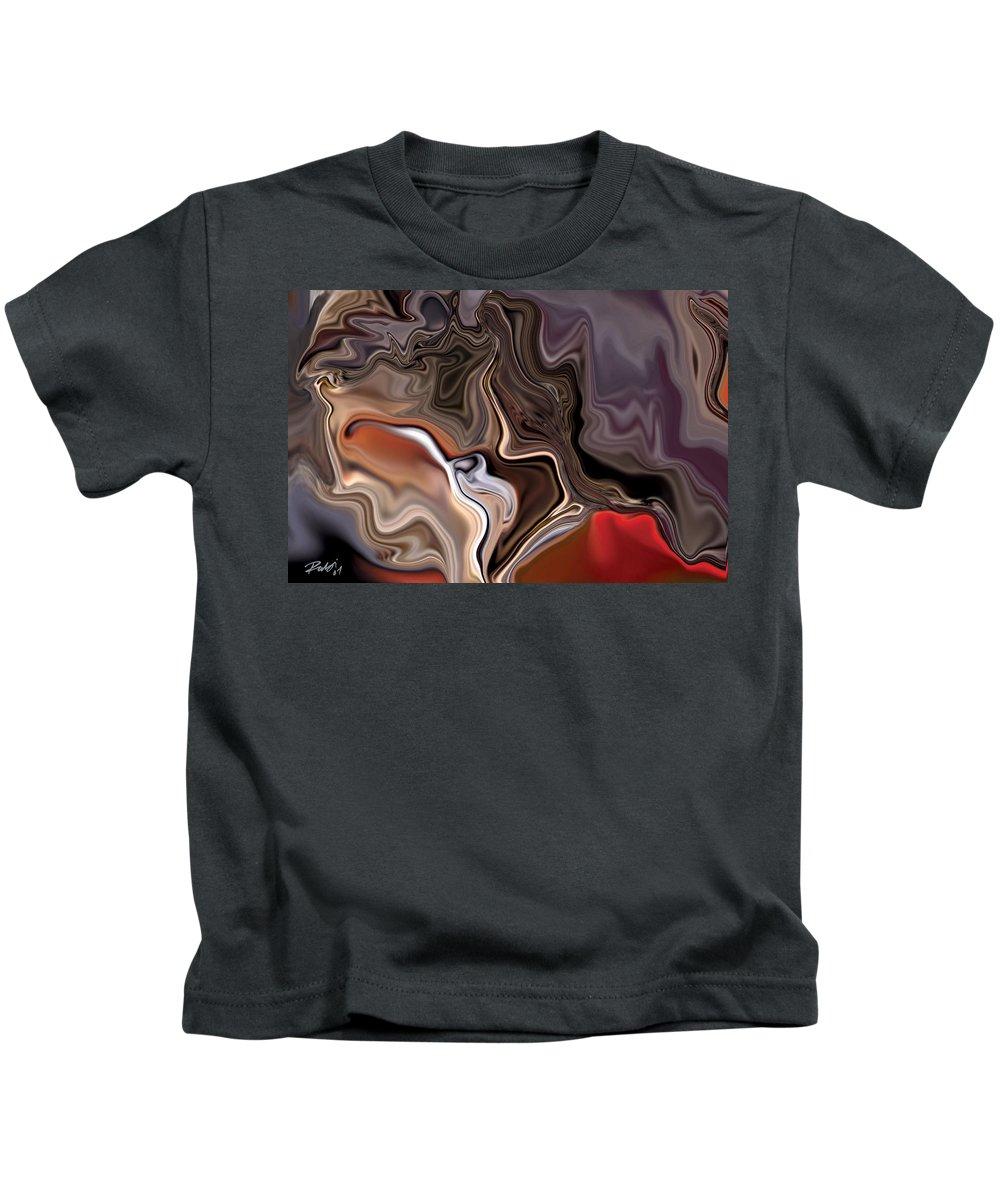 Abstract Kids T-Shirt featuring the digital art Closer by Rabi Khan