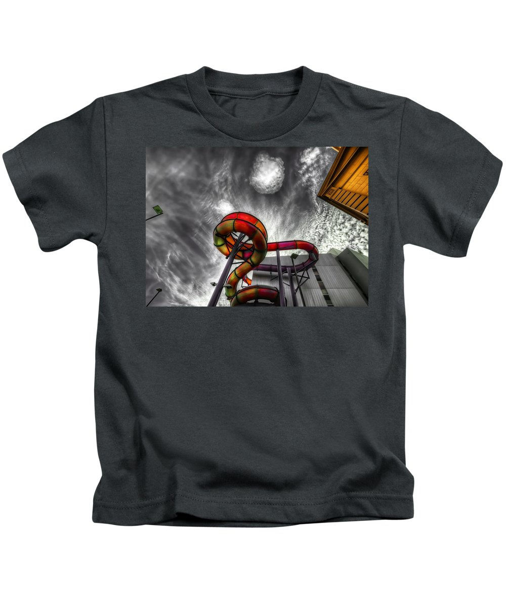 Amusement Kids T-Shirt featuring the photograph Cloud 9a by Wayne Sherriff
