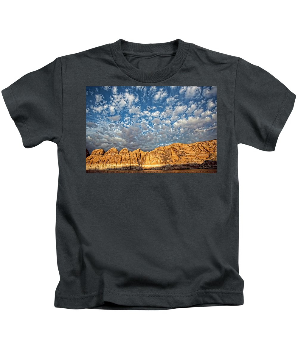 Lake Powell Kids T-Shirt featuring the photograph Cloud Burst by Photopoint Art