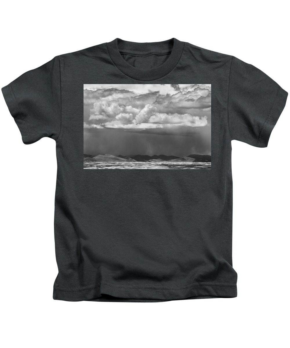 Clouds Kids T-Shirt featuring the photograph Cloudy Weather by Hitendra SINKAR
