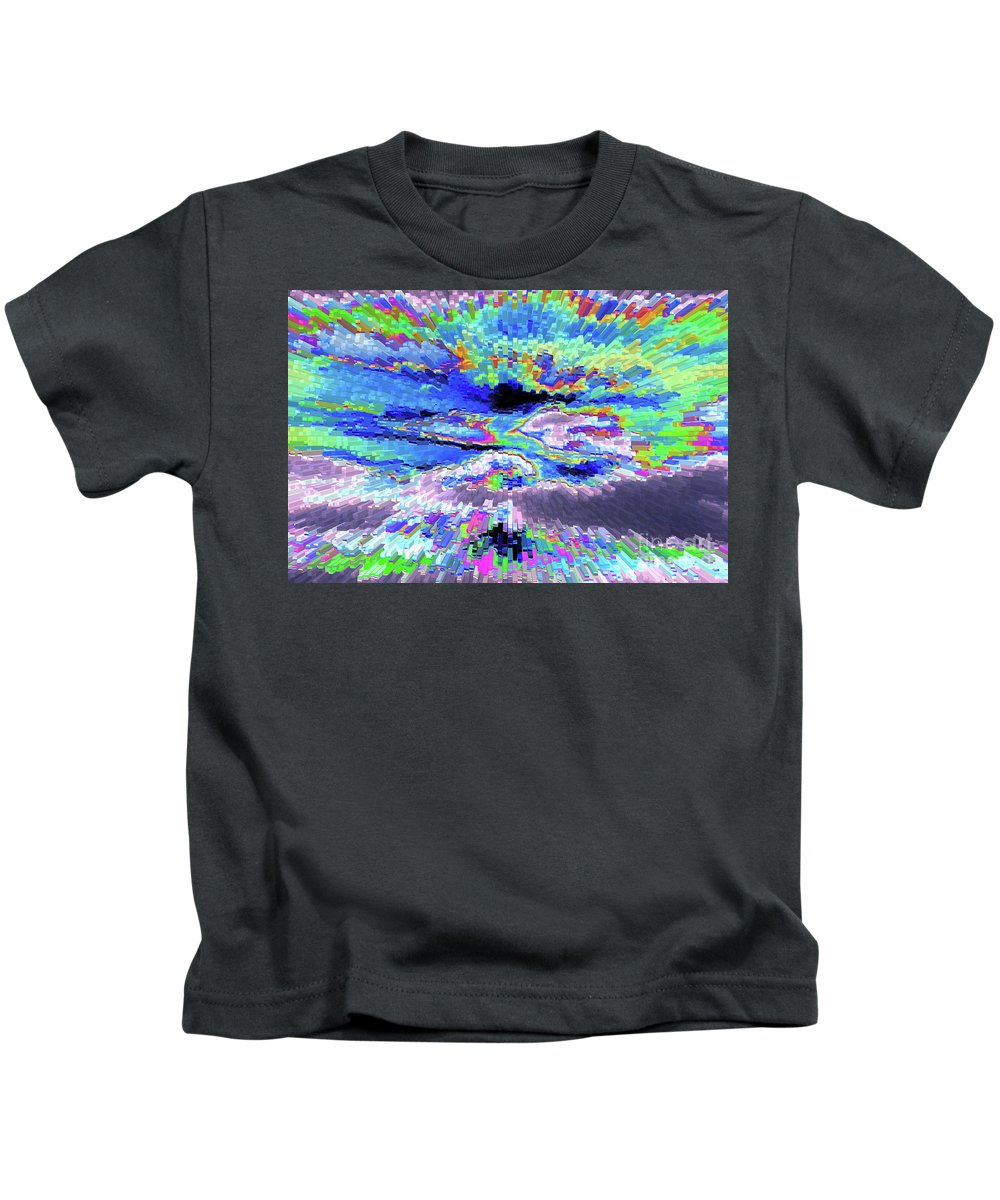 Clouds Kids T-Shirt featuring the photograph Cloud Energy by Carol Groenen