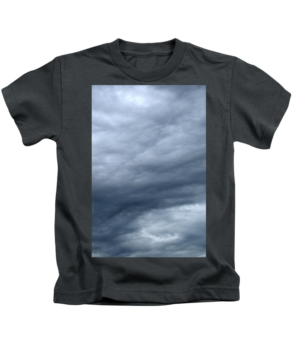 Abstract Kids T-Shirt featuring the photograph Clouds At Dusk Two by Lyle Crump