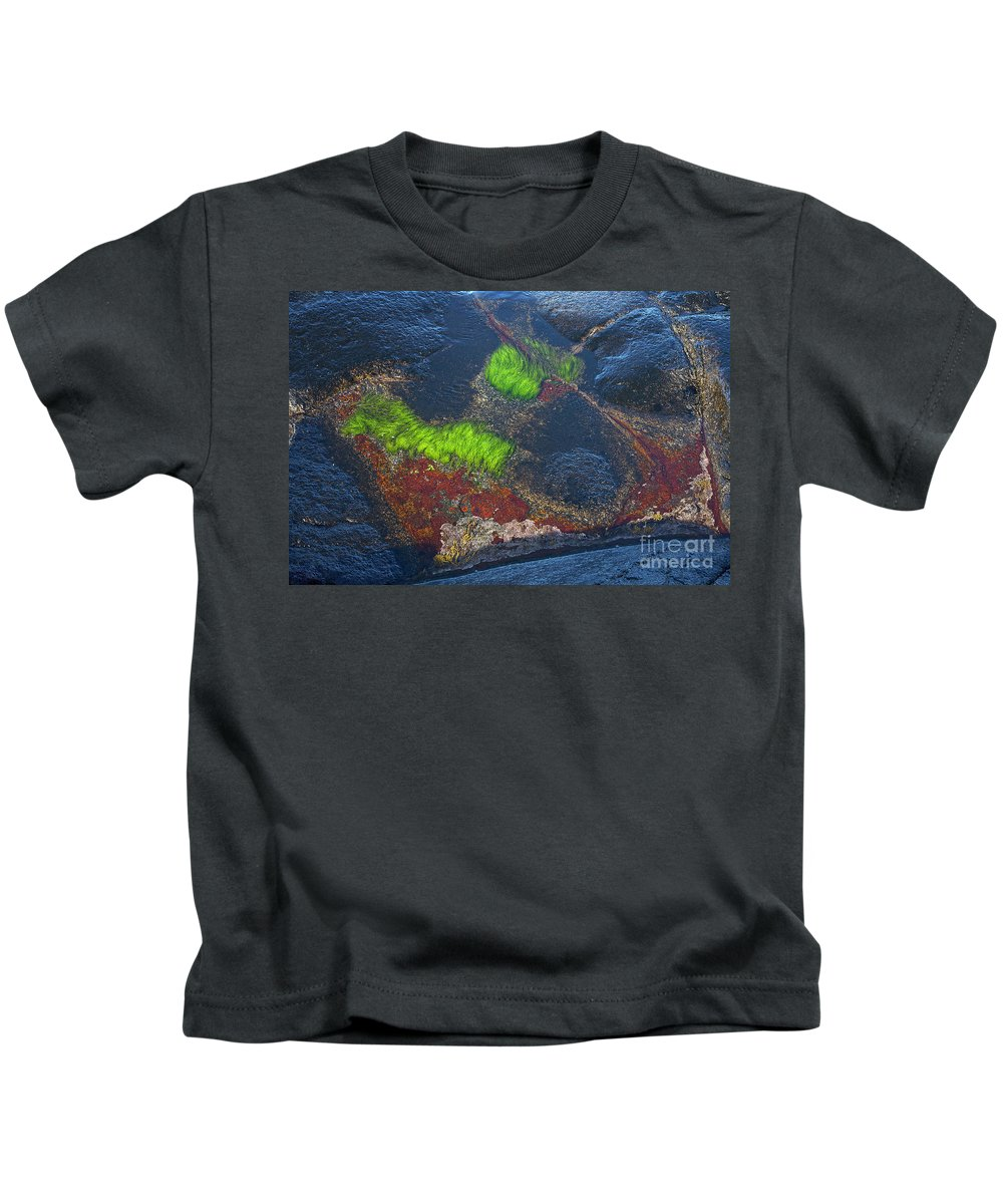 Blue Kids T-Shirt featuring the photograph Coastal Floor At Low Tide by Heiko Koehrer-Wagner