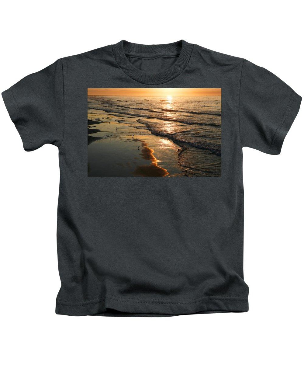Beach Kids T-Shirt featuring the photograph Coastal Sunrise by Marilyn Hunt