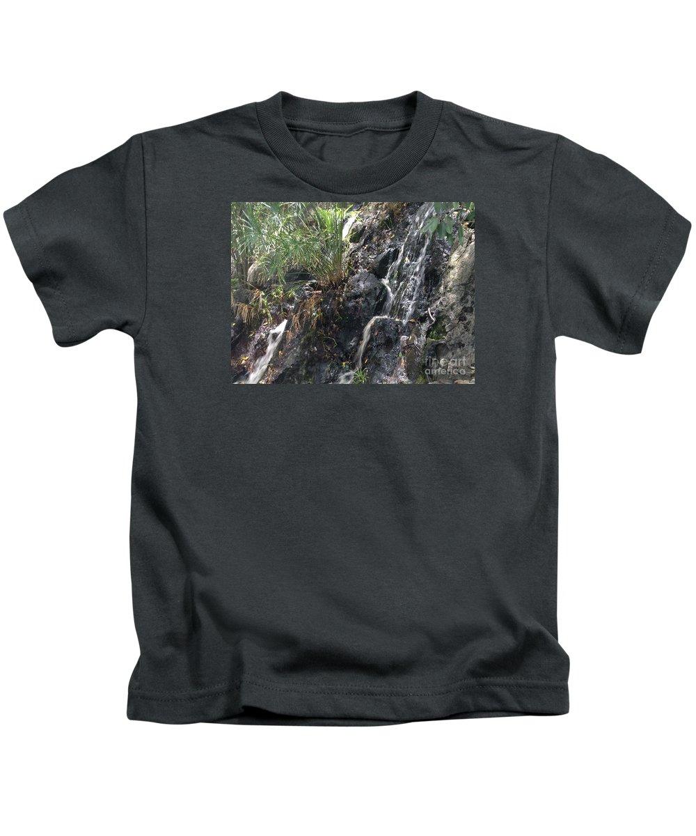 Coki Beach Kids T-Shirt featuring the photograph Coki Waterfall by Gina Sullivan