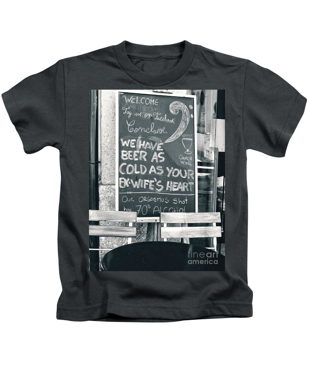 Portugal Kids T-Shirt featuring the photograph Cold Beer by Diana Rajala