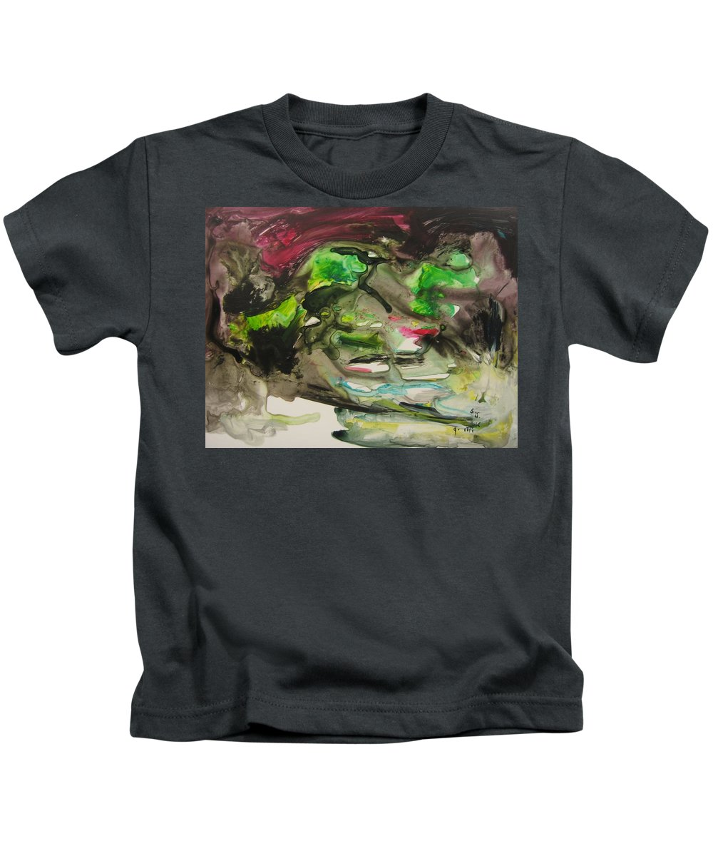 Abstract Paintings Kids T-Shirt featuring the painting Color Fever 114 by Seon-Jeong Kim