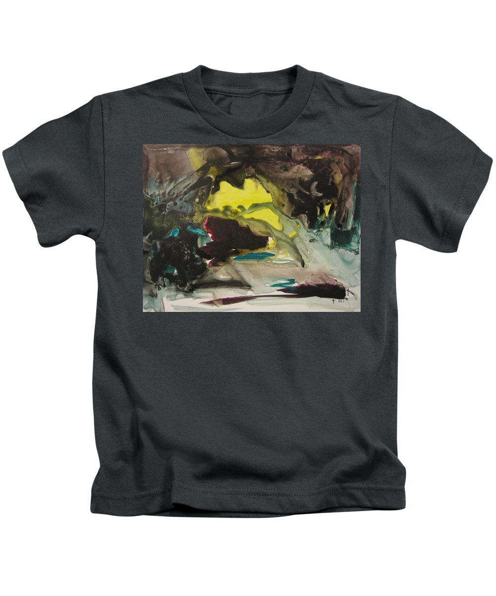 Abstract Paintings Kids T-Shirt featuring the painting Color Fever 117 by Seon-Jeong Kim