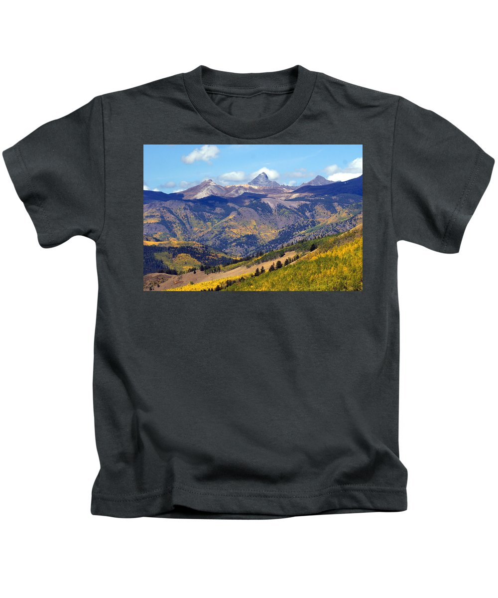 Mountains Kids T-Shirt featuring the photograph Colorado Mountains 1 by Marty Koch