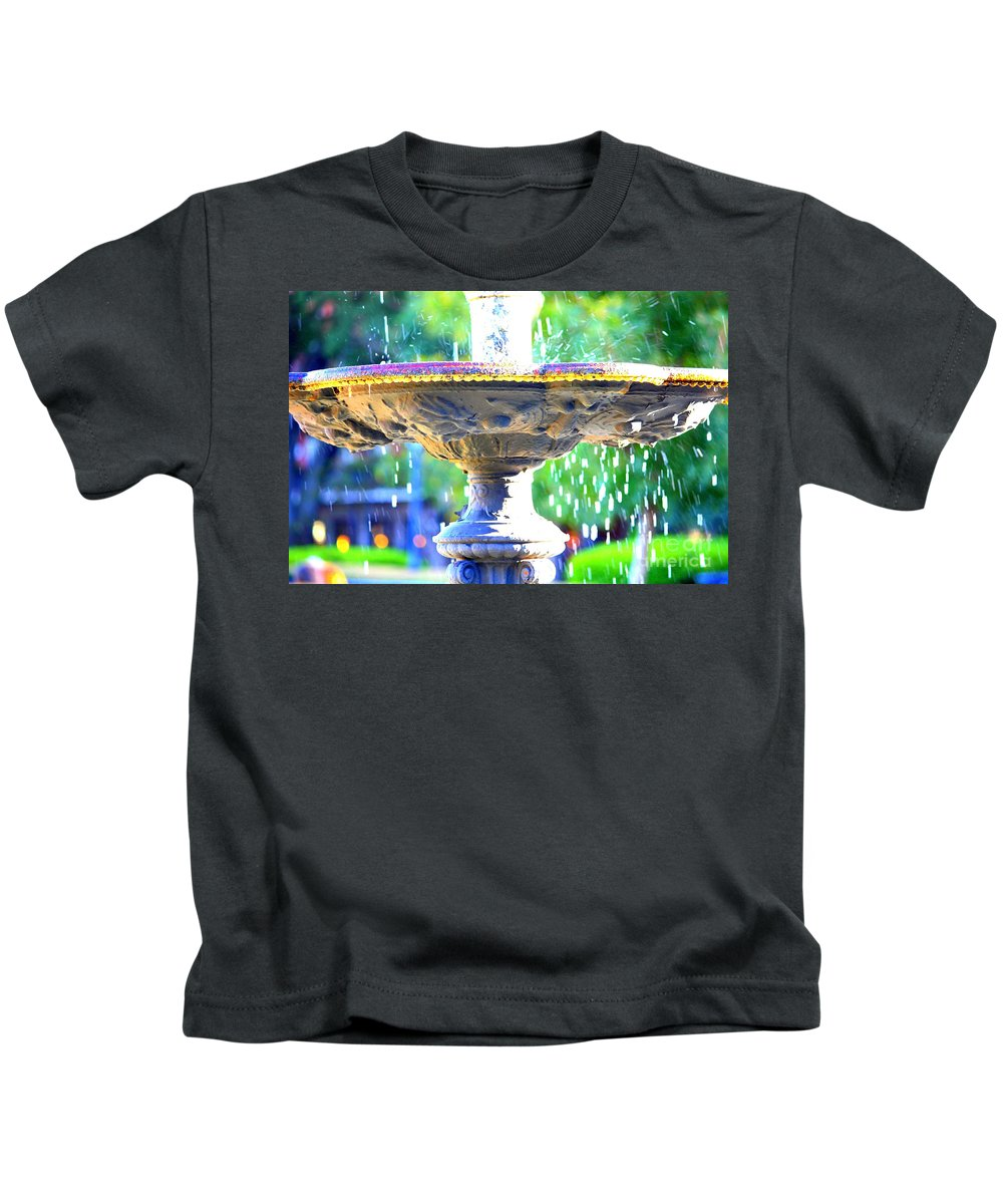 New Orleans Kids T-Shirt featuring the photograph Colorful New Orleans Fountain by Carol Groenen
