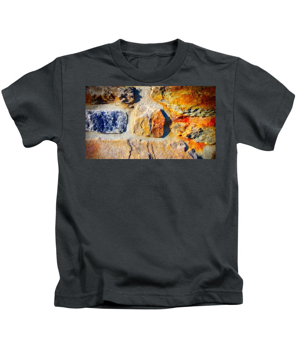 Rock Kids T-Shirt featuring the photograph Colorful Stone by Ronald Watkins