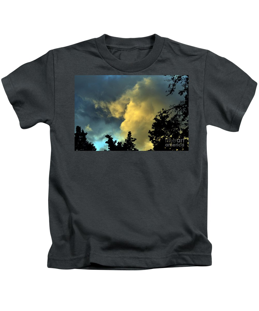 Clay Kids T-Shirt featuring the photograph Coloring Clouds by Clayton Bruster