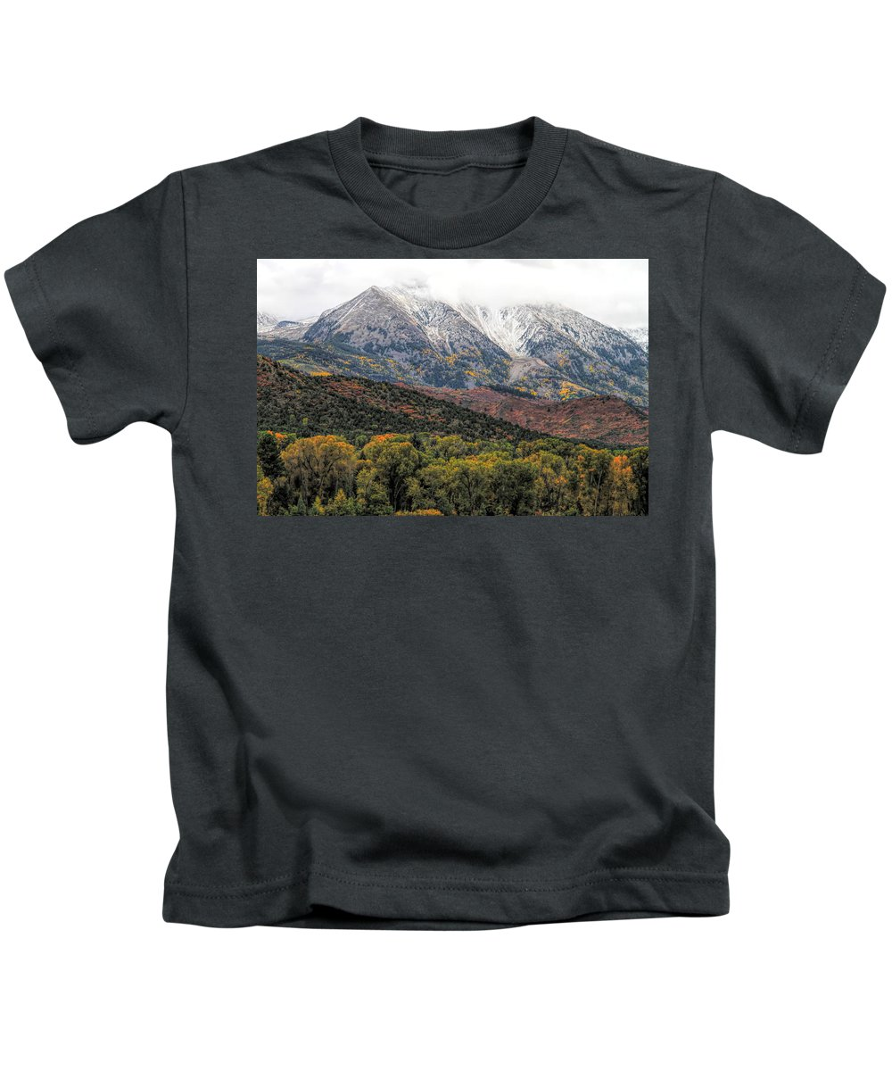 Colors Of Autumn On Mcclure Pass Kids T-Shirt featuring the photograph Colors Of Autumn On Mcclure Pass by Dan Sproul