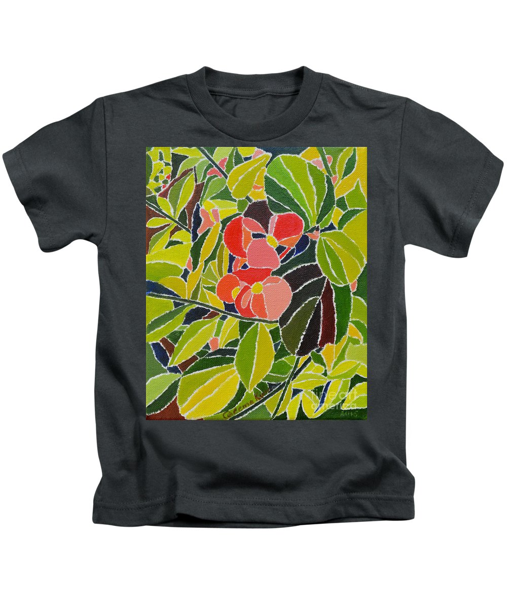 Oil On Canvas Kids T-Shirt featuring the painting Colors Of Nature by Seema Kumar