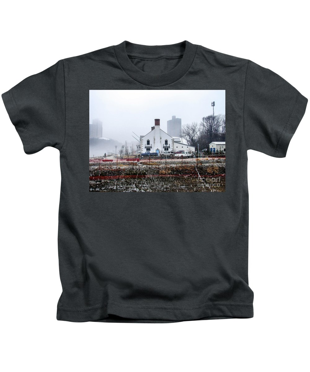 2014 Kids T-Shirt featuring the photograph Columbia Boathouse by Cole Thompson