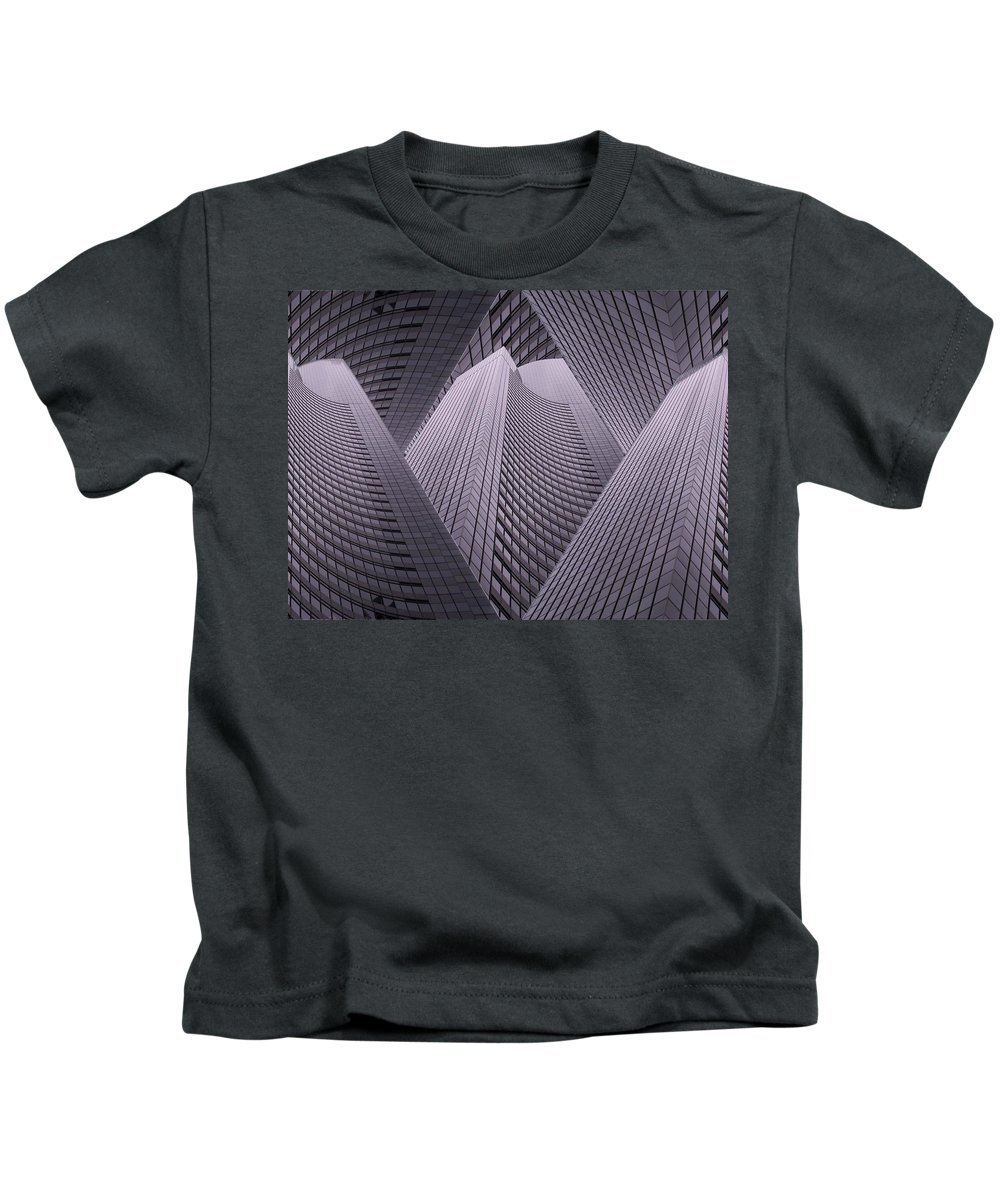 Seattle Kids T-Shirt featuring the digital art Columbia Tower Seattle Wa 2 by Tim Allen