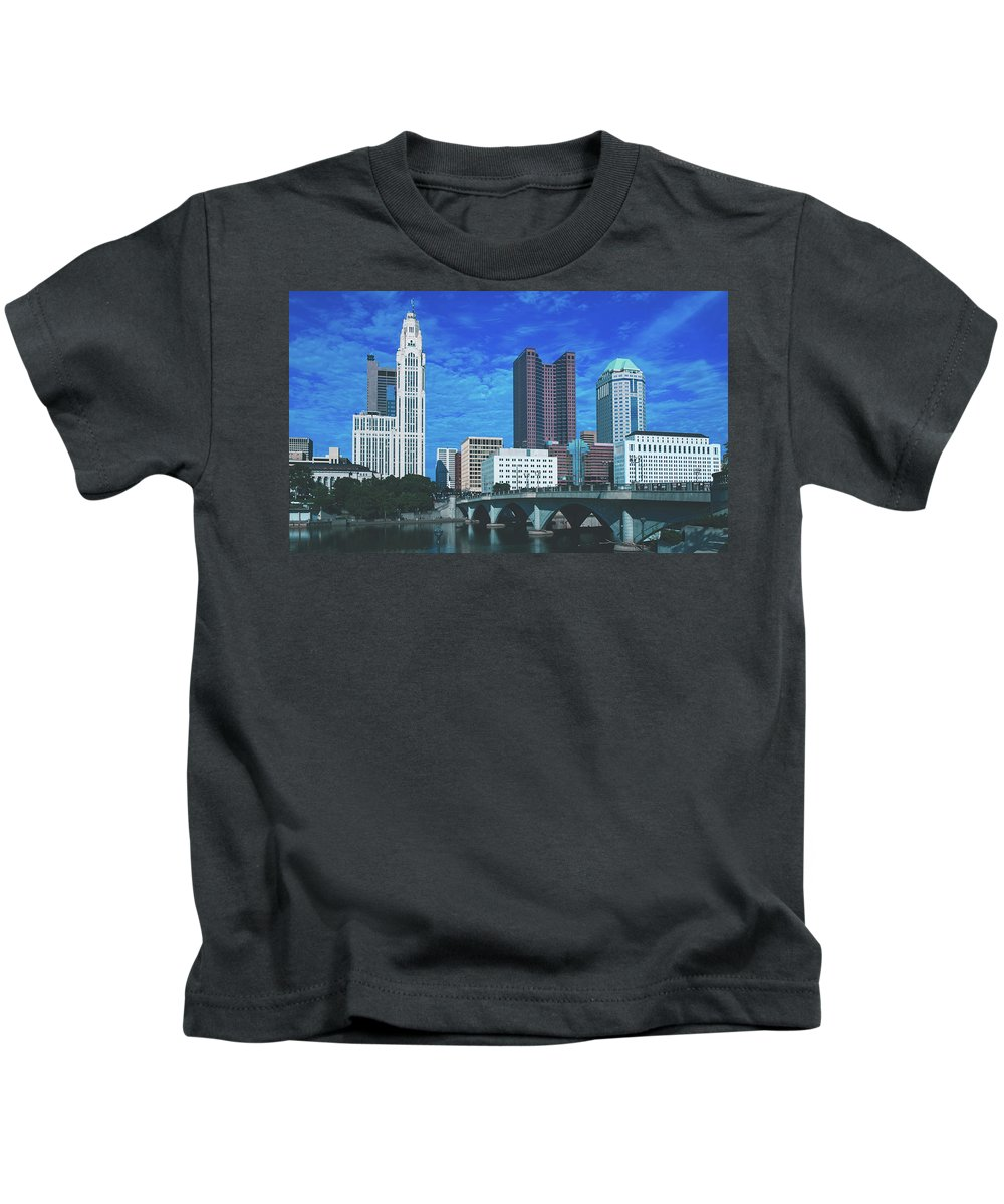 Columbus Kids T-Shirt featuring the photograph Columbus Ohio by Library Of Congress