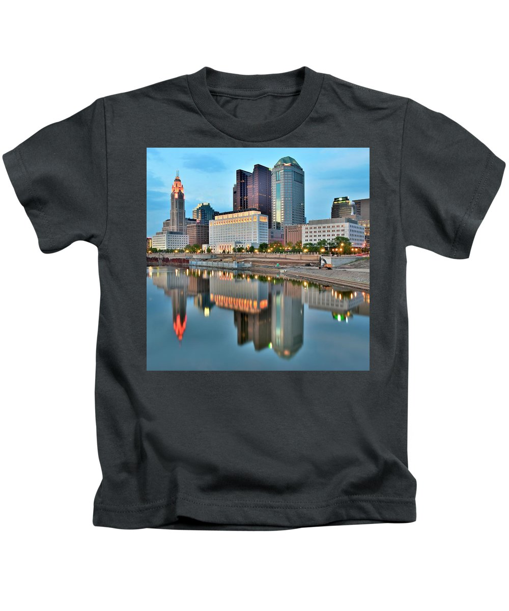 Columbus Kids T-Shirt featuring the photograph Columbus Squared by Frozen in Time Fine Art Photography