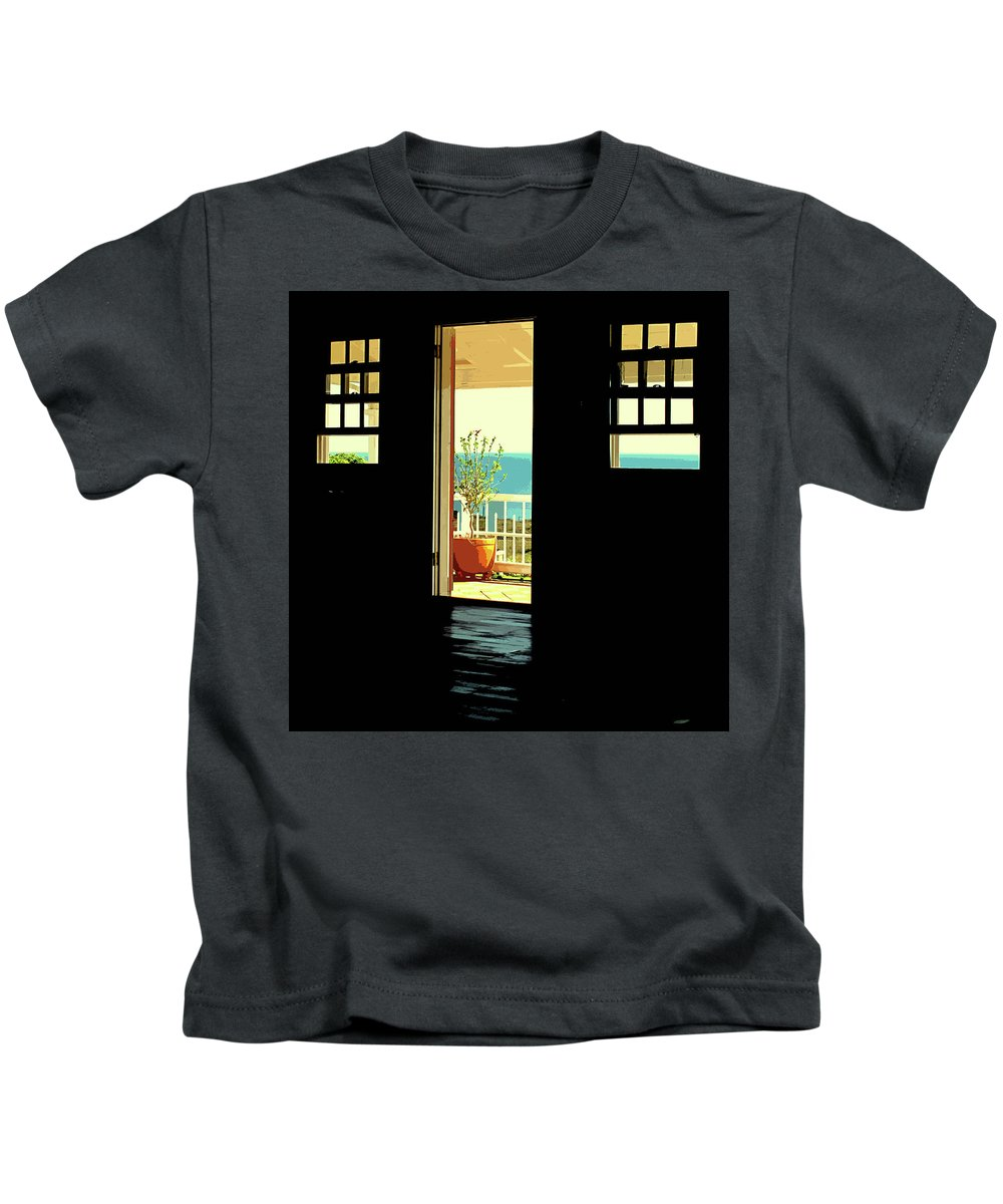 Fairview Great House Kids T-Shirt featuring the photograph Come Over To The Light Side by Ian MacDonald