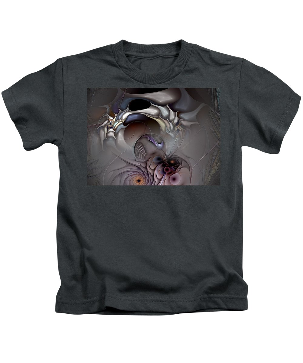 Abstract Kids T-Shirt featuring the digital art Compartmentalized Delusion by Casey Kotas