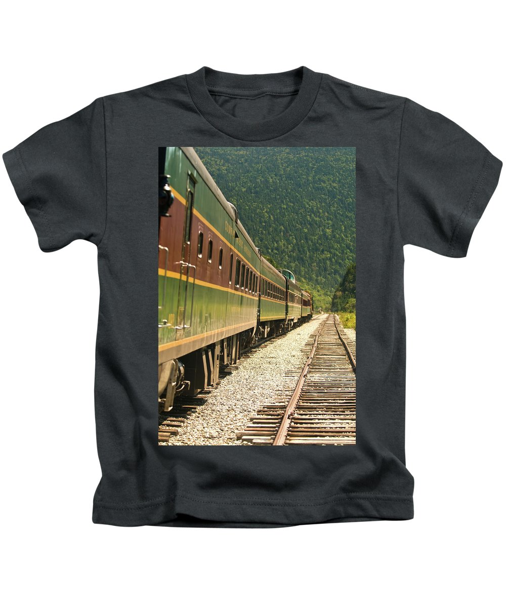 conway Scenic Railway Kids T-Shirt featuring the photograph Conway Scenic Railway by Paul Mangold