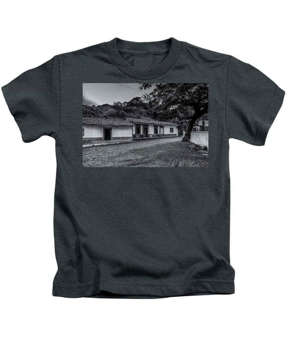 Landscape Kids T-Shirt featuring the photograph Copala Street by Javier Flores