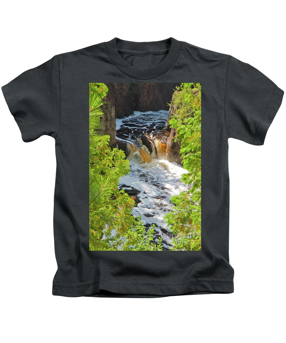 River Kids T-Shirt featuring the photograph Copper Falls by Kevin McCarthy