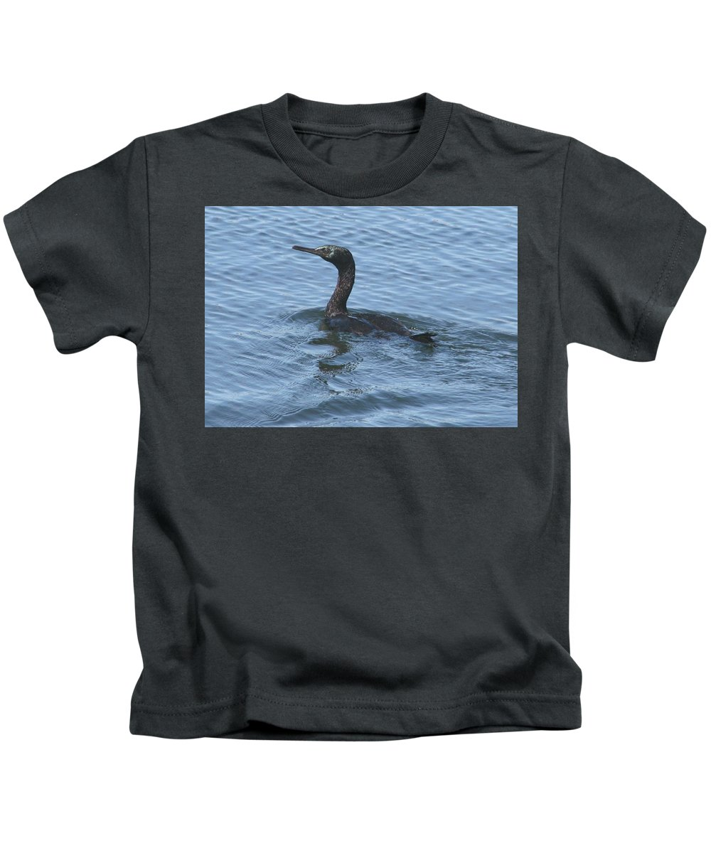 Cormorant Kids T-Shirt featuring the photograph Cormorant by Glenn Wachtman