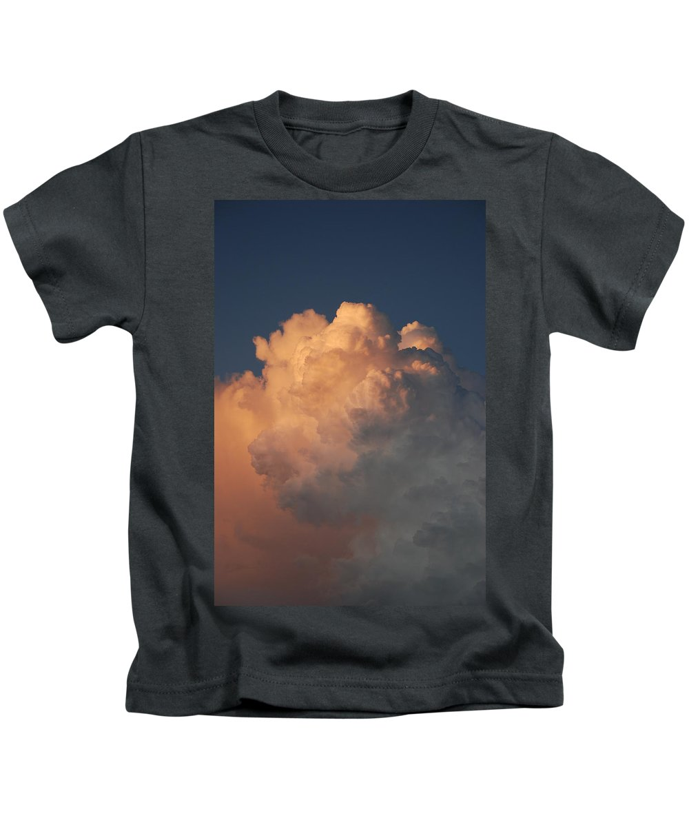 Clouds Kids T-Shirt featuring the photograph Cottonballs by Rob Hans