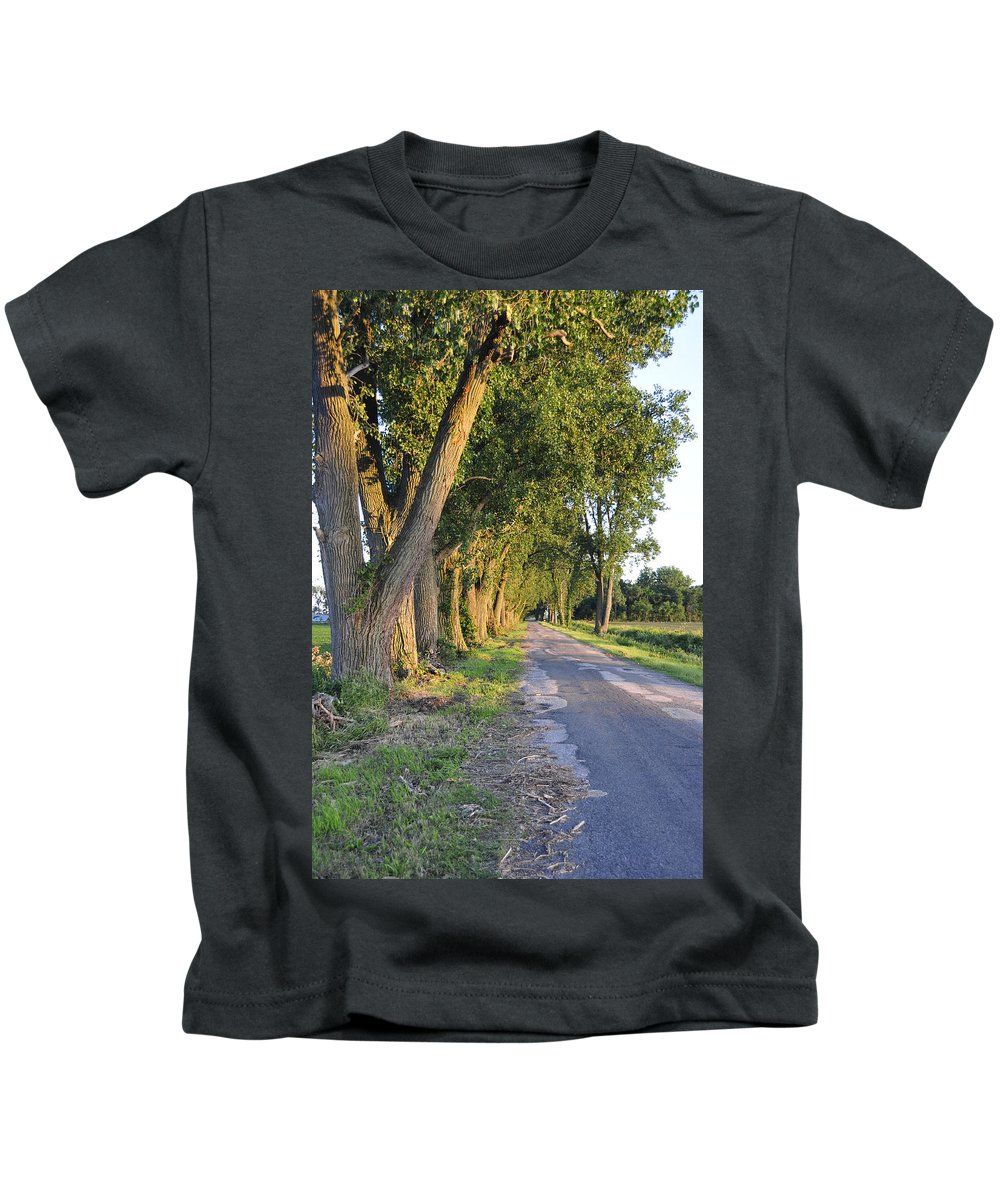 Road Kids T-Shirt featuring the photograph Country Road by David Arment