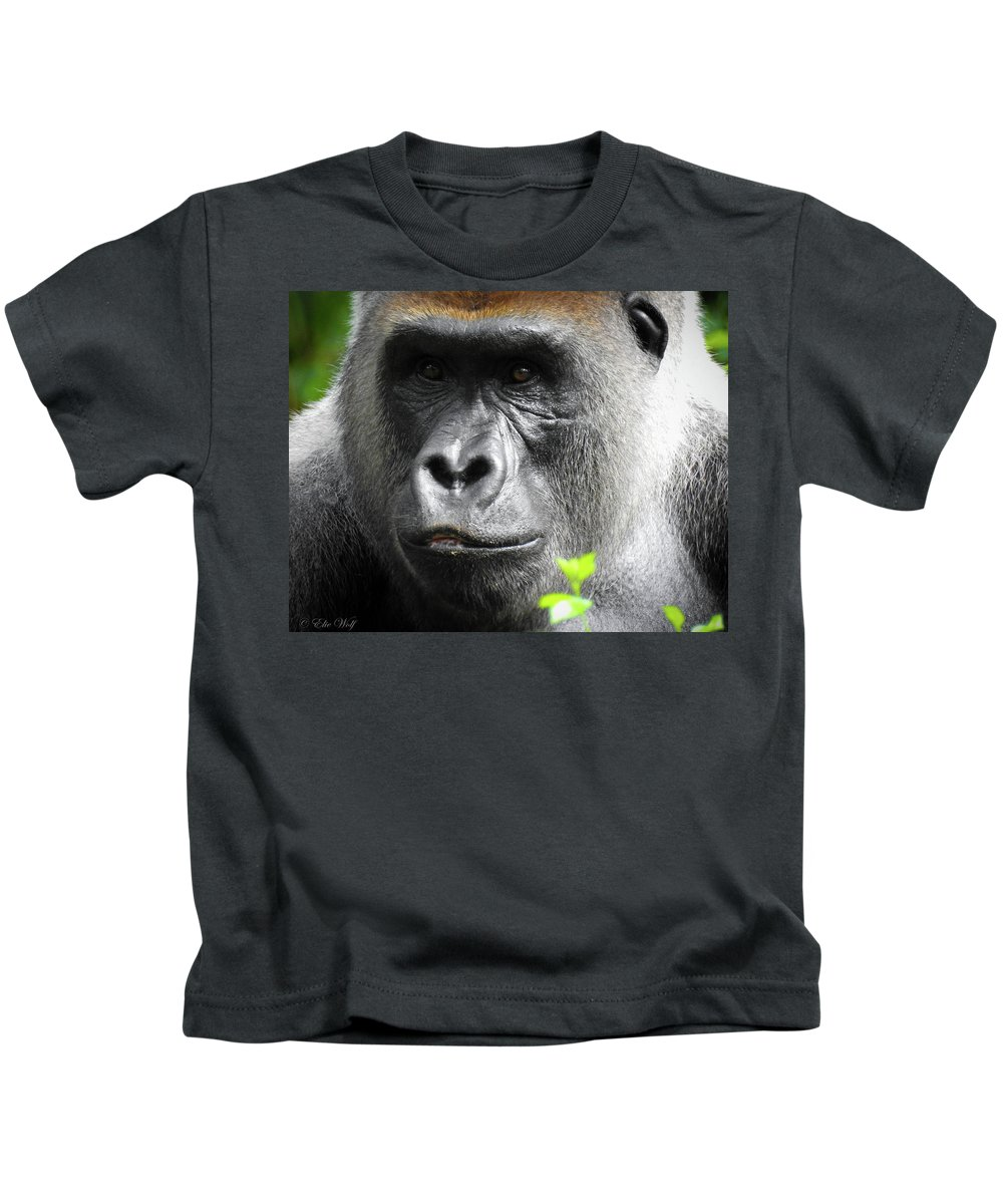 Gorilla Kids T-Shirt featuring the photograph Cousin Number 12 by Elie Wolf