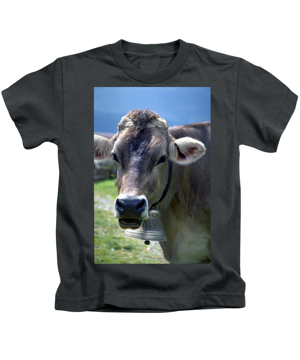 Cow Kids T-Shirt featuring the photograph Cow by Flavia Westerwelle
