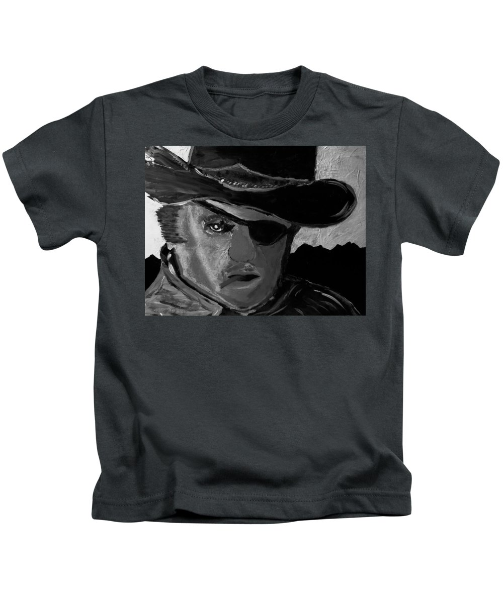 Digital Kids T-Shirt featuring the painting Cowboy by Patrick McClellan