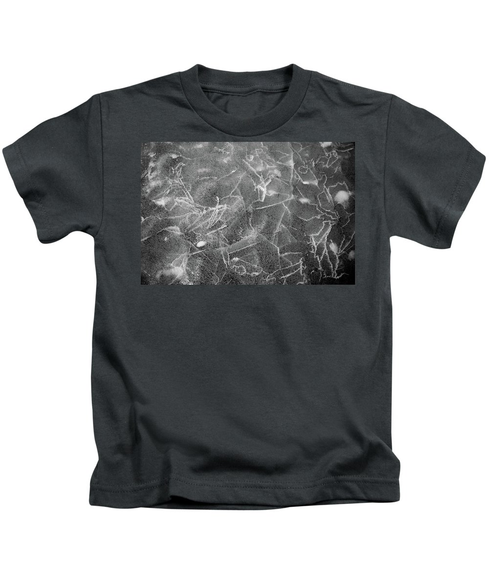 Closeup Kids T-Shirt featuring the photograph Cracks In Mountain Ice by Rob Lantz