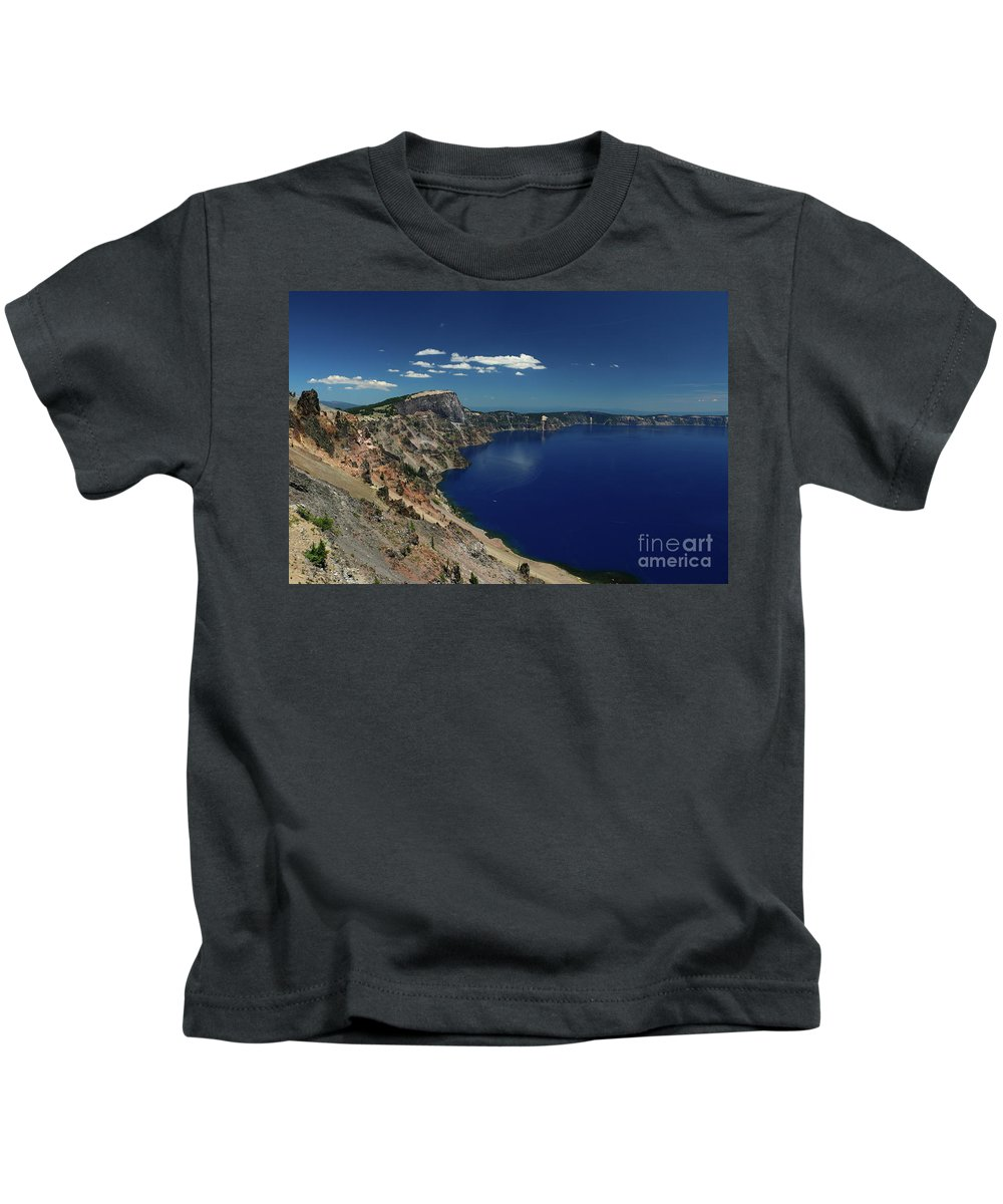 Crater Lake Kids T-Shirt featuring the photograph Crater Lake A Caldera Lake by Christiane Schulze Art And Photography