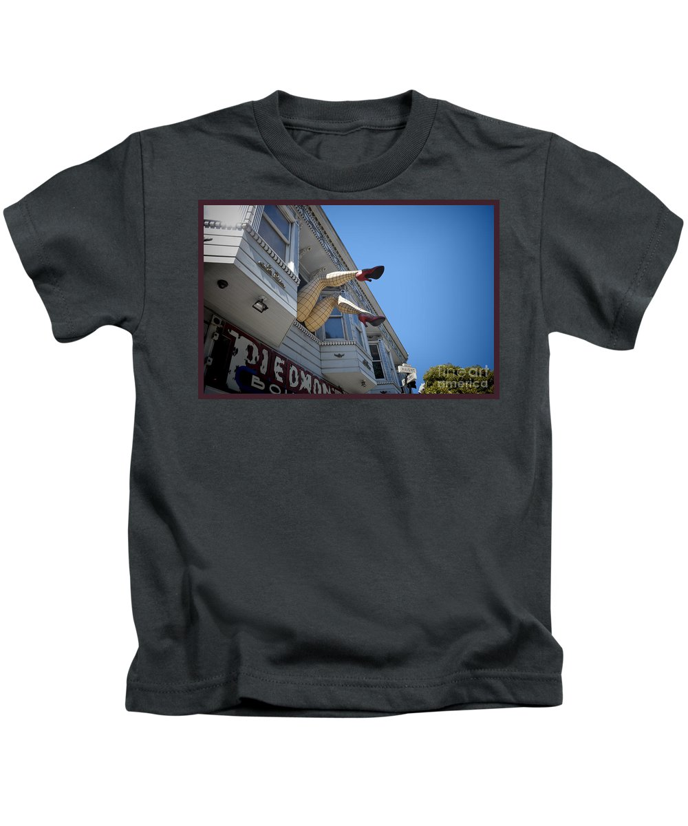 Legs Kids T-Shirt featuring the photograph Crazy Legs by Judy Wolinsky