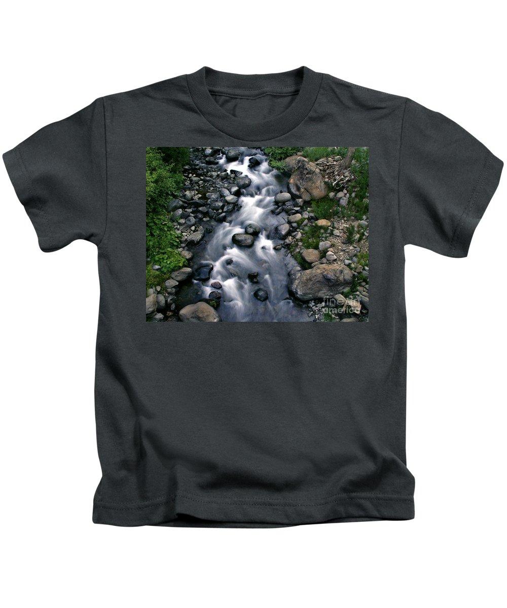 Creek Kids T-Shirt featuring the photograph Creek Flow by Peter Piatt