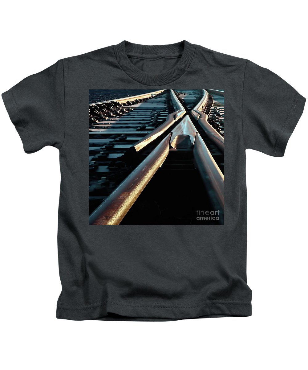 Digital Color Photo Kids T-Shirt featuring the photograph Critical Point by Tim Richards