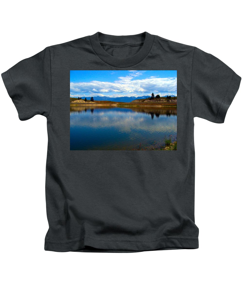 Lake Kids T-Shirt featuring the photograph Crow Lake Montana by Karon Melillo DeVega