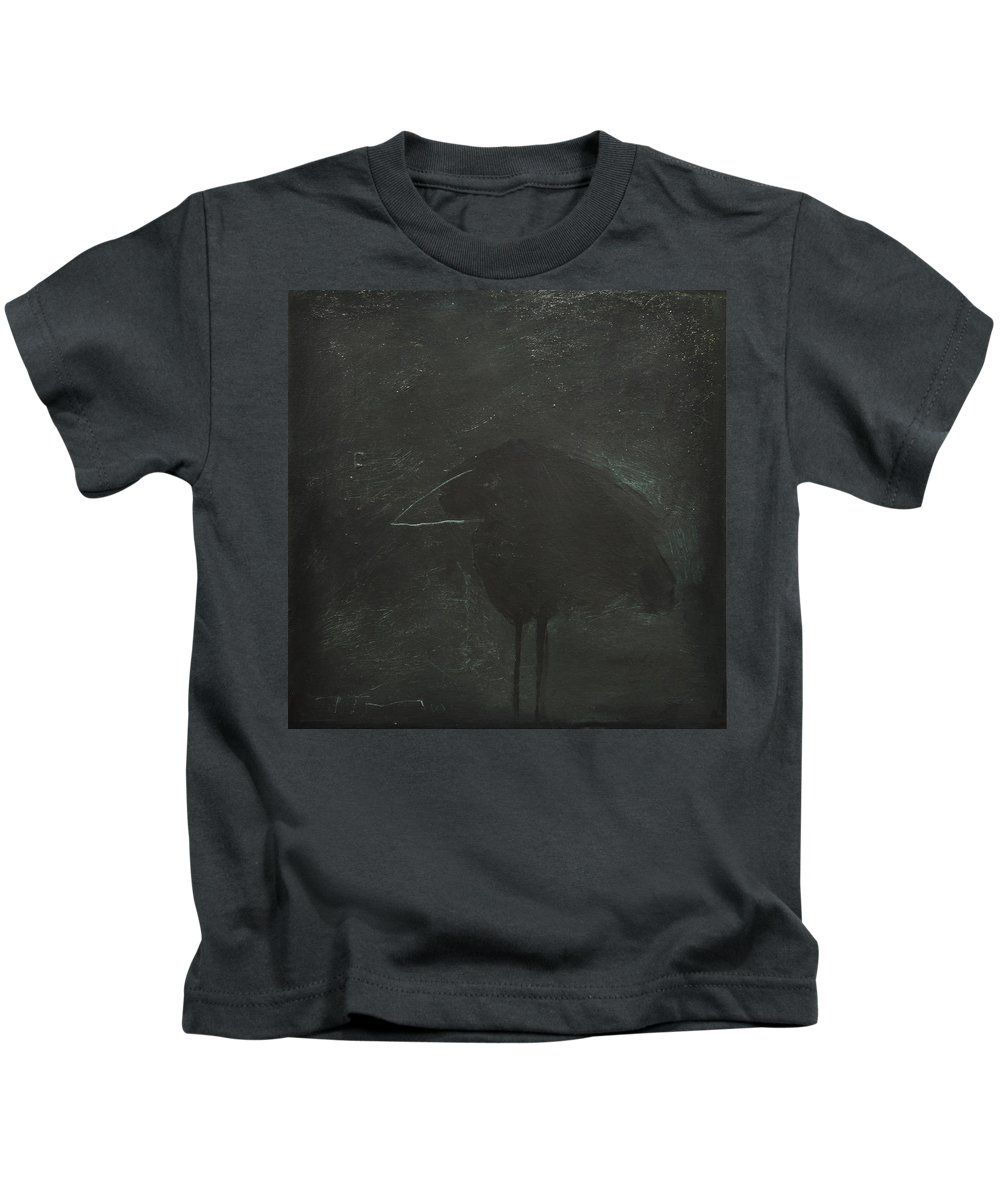 Dark Kids T-Shirt featuring the painting Crow by Tim Nyberg