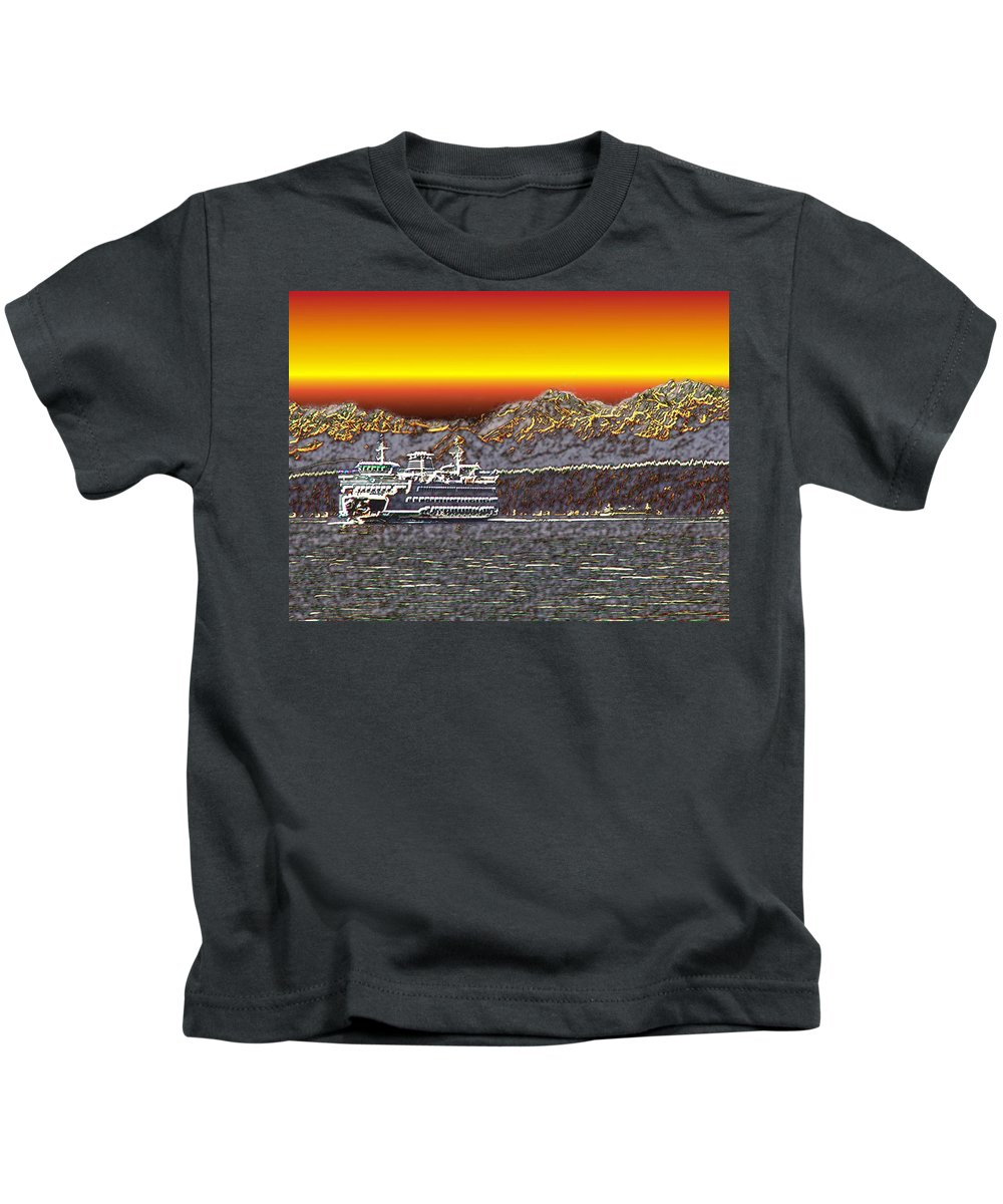 Seattle Kids T-Shirt featuring the photograph Cruisin The Sound by Tim Allen